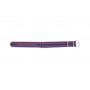 Timex correa de reloj TW7C07100 Textil Azul 20mm