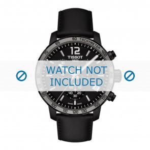 Tissot correa de reloj T095.417.36.057.02 - T600035372 Cuero Negro 19mm