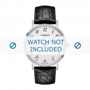 Tissot correa de reloj T109.410.16.032.00 - T600039639 Piel de cocodrilo Negro 19mm + costura negro