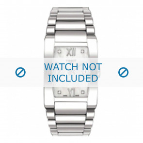 Tissot correa de reloj T007309 T-Trend - T605024874 Metal Plateado 18mm