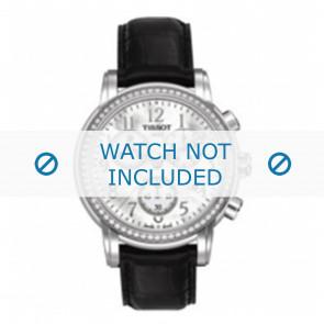 Tissot correa de reloj T050.207.A Lady Heart Dressport - T610029086 / T050.217.A / T906.217.A Piel de cocodrilo Negro 16mm