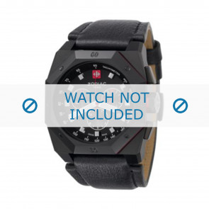 Zodiac correa de reloj ZO1800 Cuero Negro + costura negro