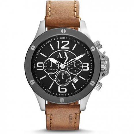 ac8b8aff350 Correa de reloj Armani Exchange AX1509 Cuero Cognac 22mm