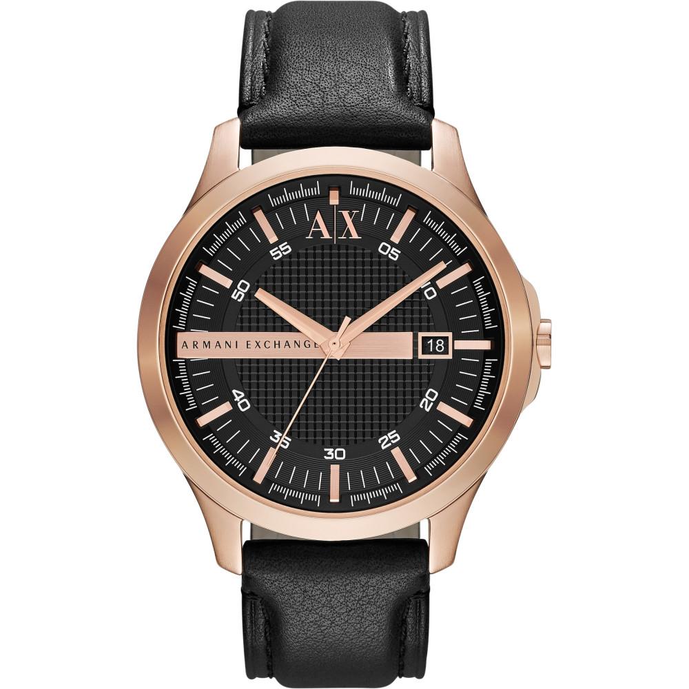 25d4d88f3ad Correa de reloj Armani Exchange AX2129 Cuero Negro 22mm