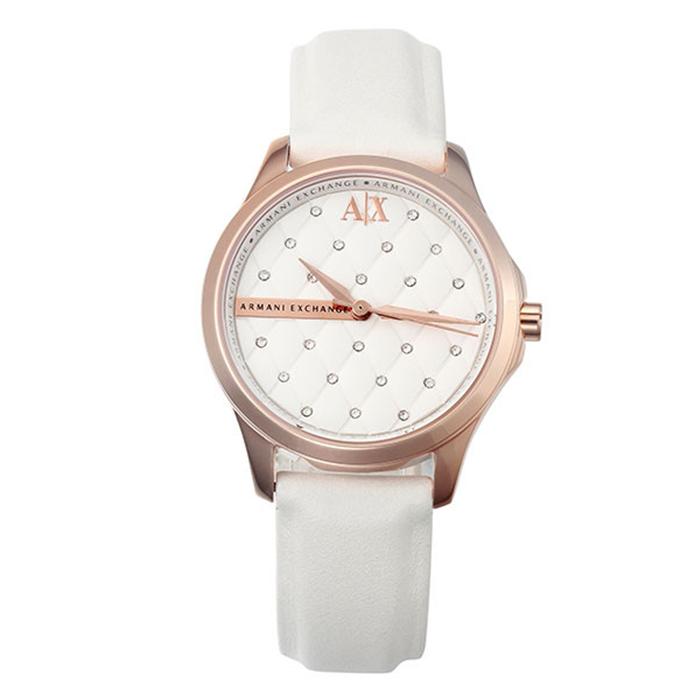 1a0efcd21c3 Correa de reloj Armani Exchange AX5205 Cuero Blanco 18mm