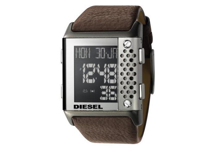 9cd46725f403 Correa de reloj Diesel DZ7123 Cuero Marrón oscuro 30mm