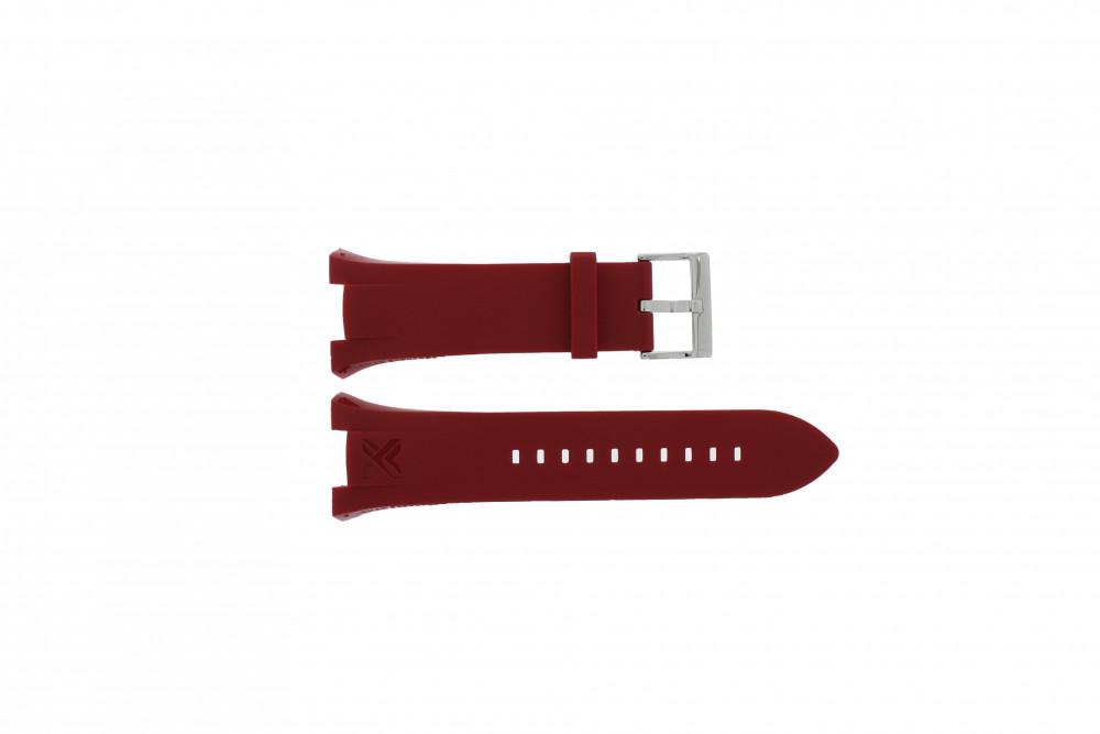 0eb43d034482 Armani correa de reloj AX-1040 Silicona Rojo 14mm