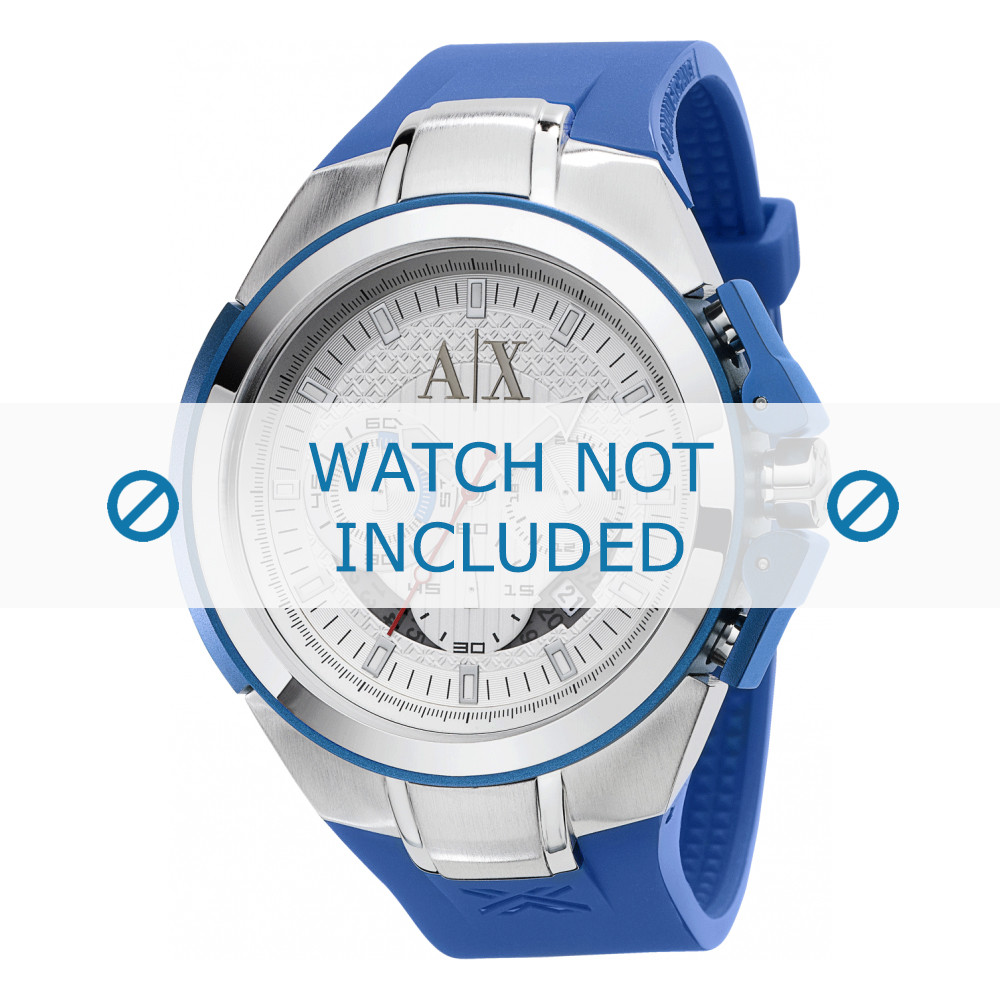 7085720c250 Armani correa de reloj AX-1041 Goma Azul claro 21mm