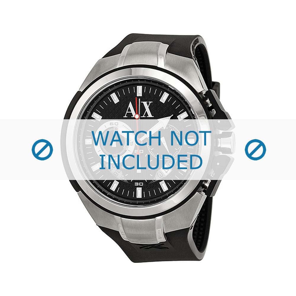 ebe2284c58a0 Armani correa de reloj AX1042 Silicona Negro 32mm