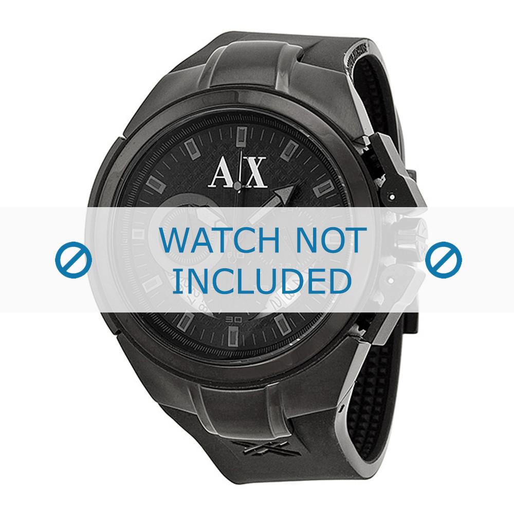 4c6267d17dc3 Armani AX-1050 correa para reloj Silicona Negro - Compre ahora!