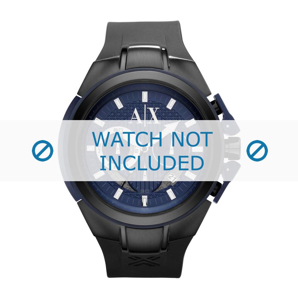 9d4a5a0cc100 Armani AX-1114 correa de reloj verdadera Silicona Negro - Compre ahora!