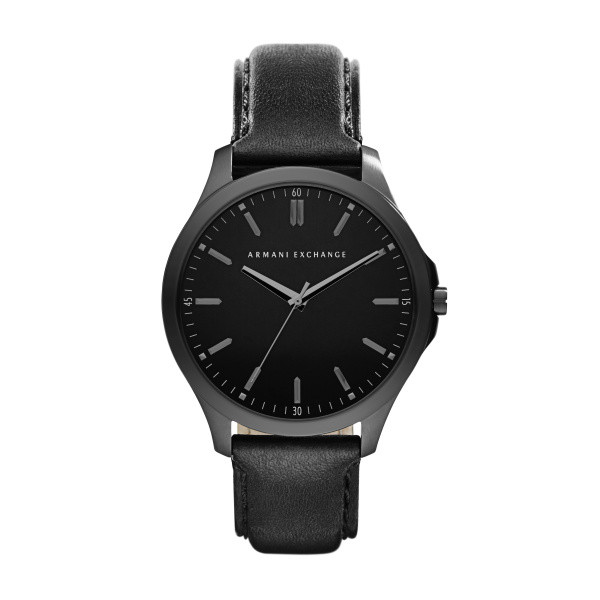 ee0af00c359 Armani Exchange correa de reloj AX2148 Cuero Negro 22mm + costura negro