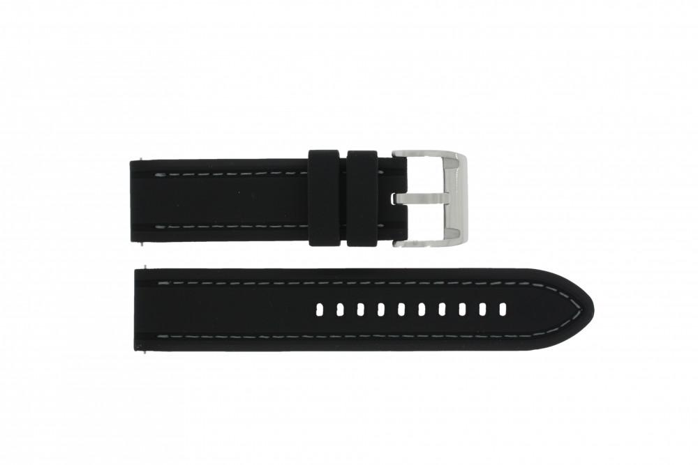 0fcf1a150a9b Correa de reloj Fossil CH2573 Caucho Negro 22mm
