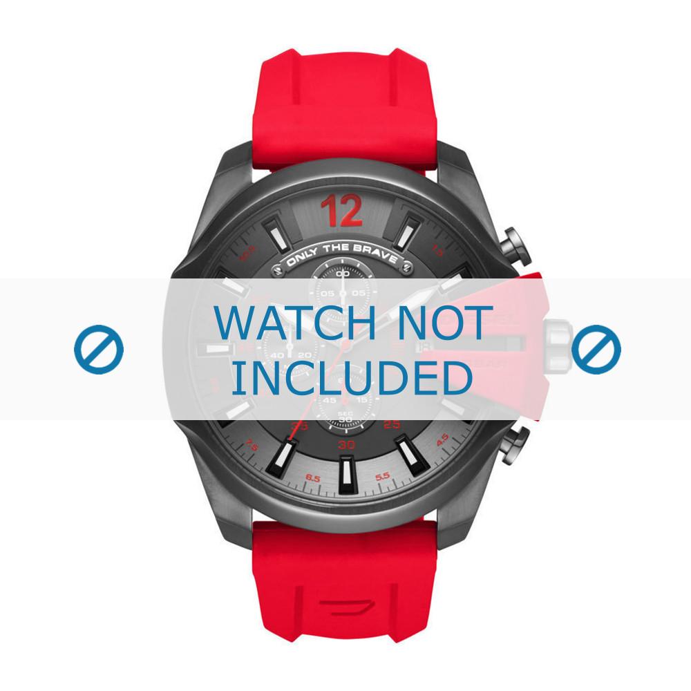 20c373d0503e Correa de reloj Diesel DZ4427 Caucho Rojo 26mm