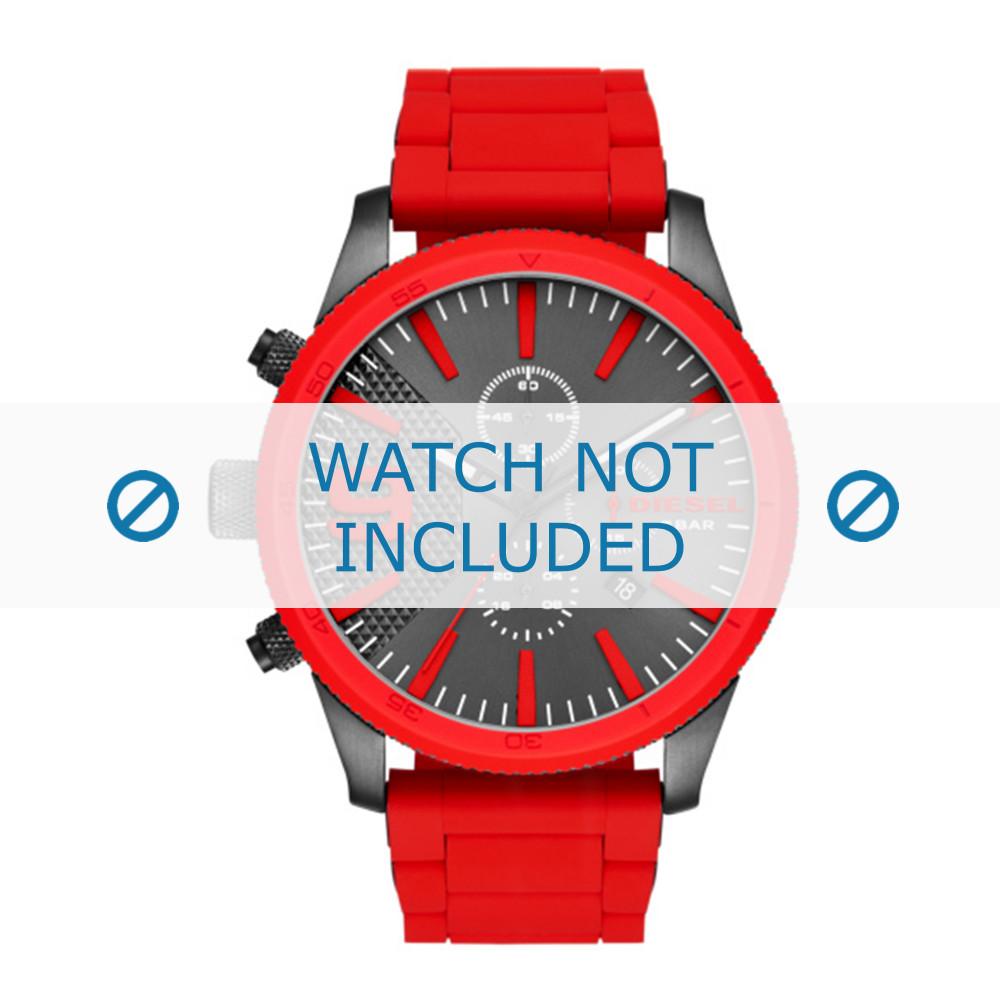 b1c05c68d0a6 Correa de reloj Diesel DZ4448 Acero Silicona Rojo 26mm