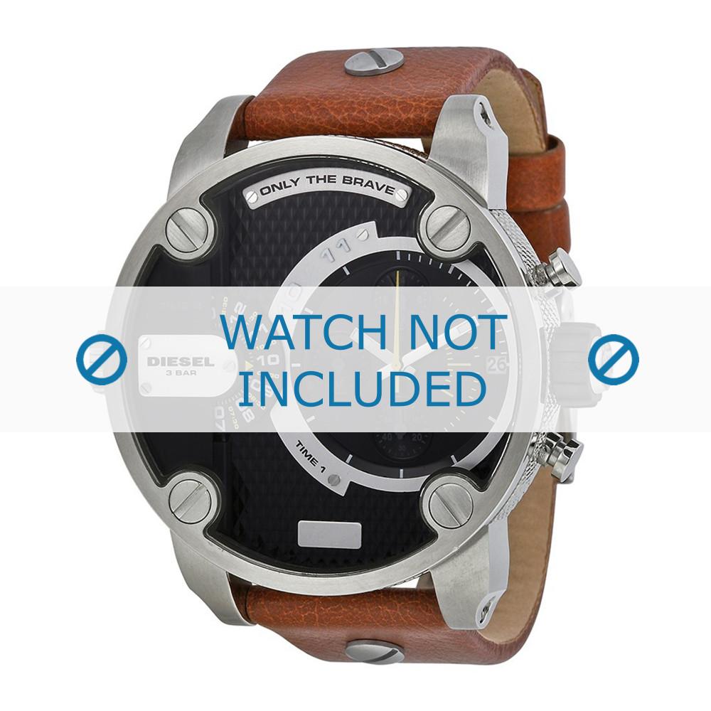 5a4e0c02f075 Diesel correa de reloj DZ-7264 Piel Marrón 24mm