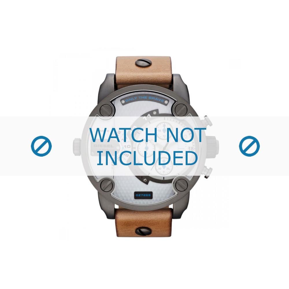 af4a32500a26 Diesel correa de reloj DZ7269 Cuero Marrón claro - Ordenar ahora ...