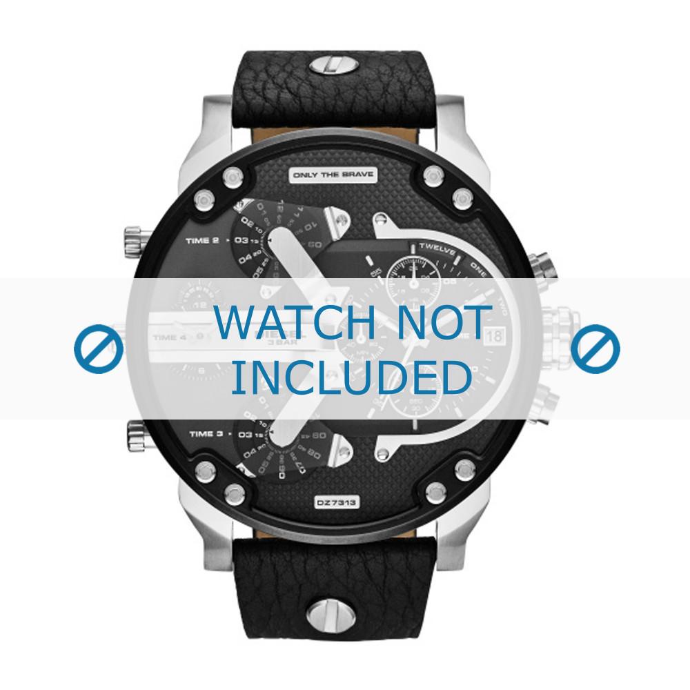 f03fef742974 Correa de reloj Diesel DZ7313 Cuero Negro 28mm