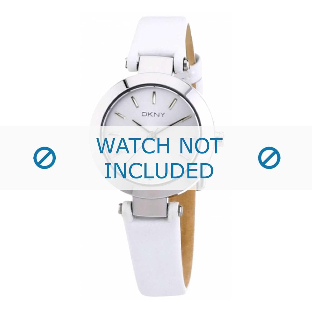 0d3047d77e69 Correa de reloj DKNY NY8834 Cuero Blanco 13mm