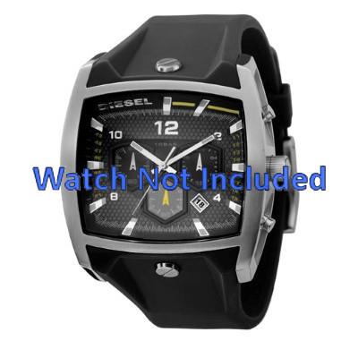 67a34f17803e 100% ORIGINAL. Correa de reloj Diesel DZ4165 Silicona Negro 33mm