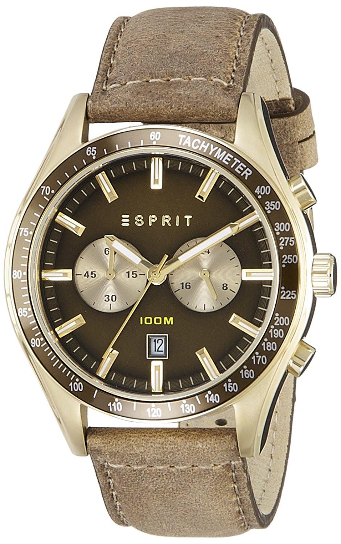 Correa Es108241 De Reloj 22mm Esprit Cuero m0N8nw