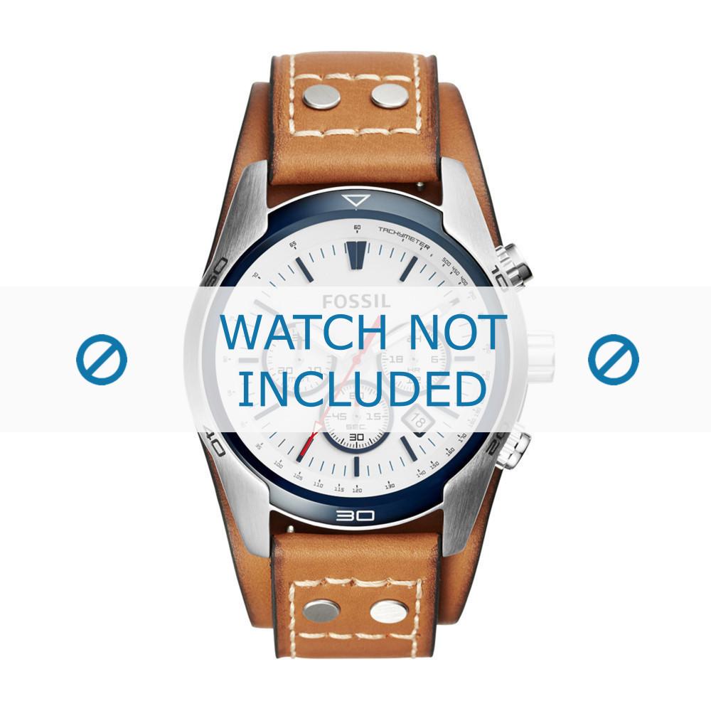 8c88bb30a4d1 Fossil CH-2986 correa de reloj nueva Piel Coñac - Compre ahora!