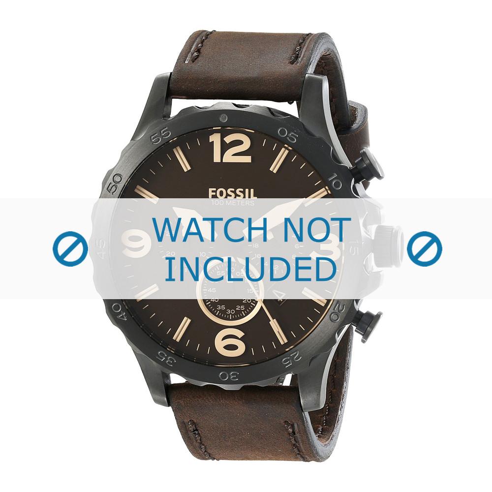 ca5b4147f363 Fossil JR-1487 correa de reloj nueva Piel Marrón - Compre ahora!