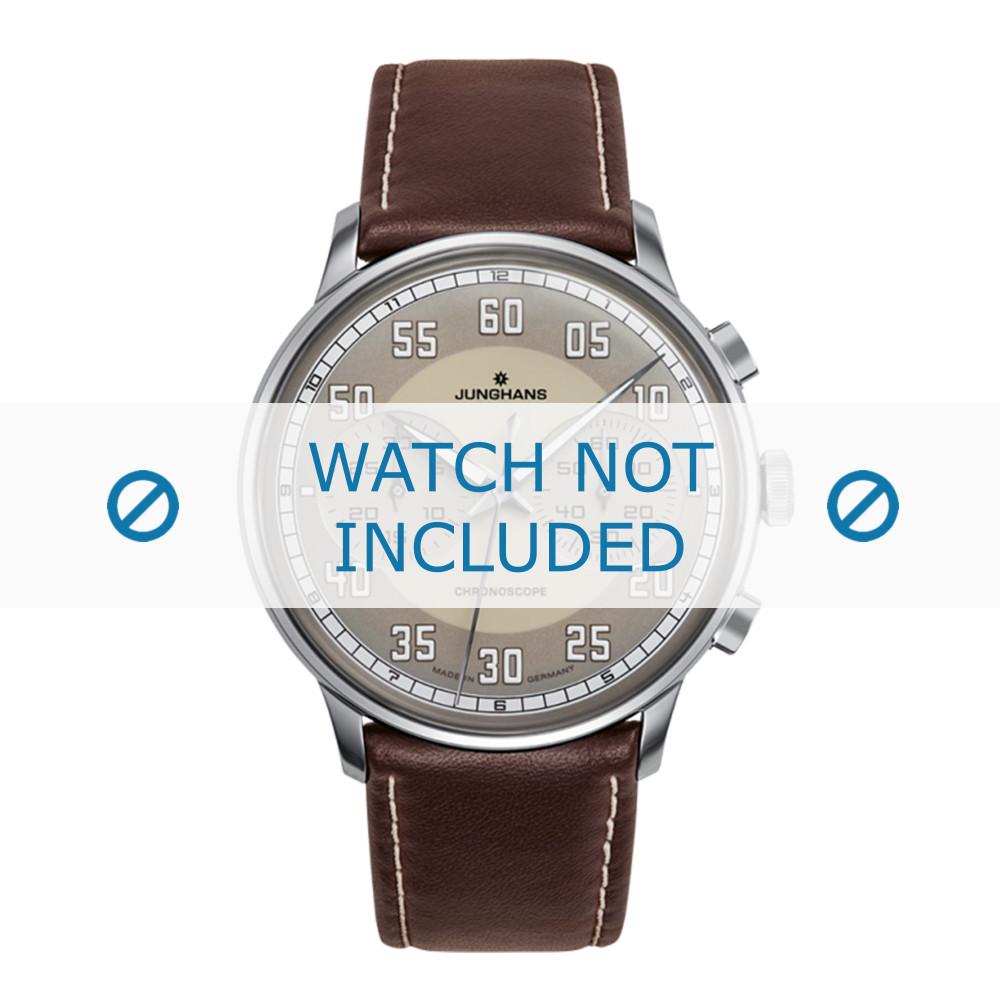d5ff0e32f3a1 Junghans correa de reloj 027/3684.00 Cuero Marrón oscuro - Ordenar ...