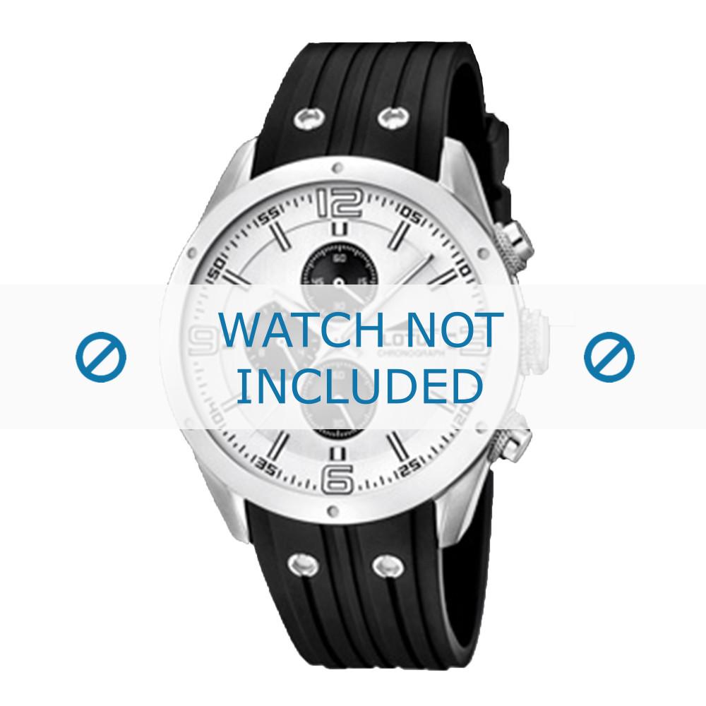 fd5fc9e32861 Correa de reloj Lotus 15969-1 Caucho Negro 23mm