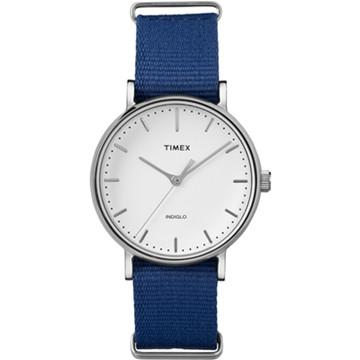 a8128bb27ca4 Correa de reloj Timex 2P98200 Nylon perlón Azul 18mm