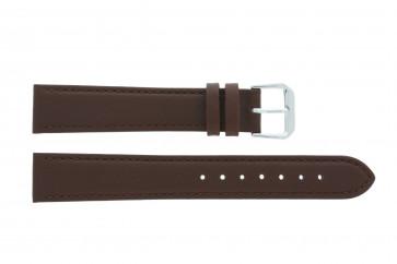 Correa de reloj Universal 054.02 Cuero Marrón 16mm
