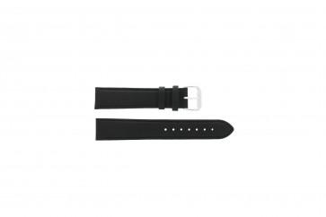 Correa de reloj Universal 054.01L XL Cuero Negro 22mm