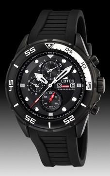 bd9296e6b2e6 Correa de reloj Lotus 15678 2 Caucho Negro 23mm