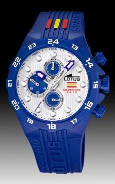 a1700c0d90bc Correa de reloj Lotus 15730-C Caucho Azul 22mm