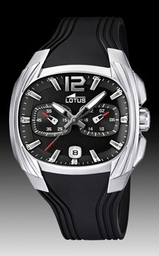 a97c6e29fd36 Lotus correa de reloj L15756 Caucho Negro - Ordenar ahora desde ...