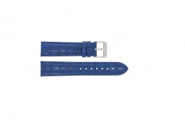 Cuero genuino croc azul 22mm PVK-285