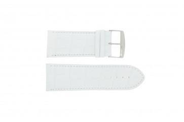 Correa de reloj Universal 305.09 Cuero Blanco 34mm