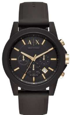 81782a781438 Correa de reloj Armani Exchange AX7105 Caucho Negro 22mm