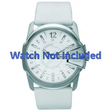 Diesel correa de reloj DZ1405 Cuero Blanco 27mm