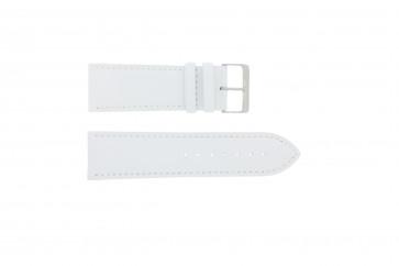Correa de reloj Universal 306.09 Cuero Blanco 26mm