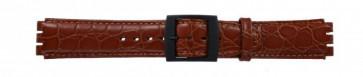 Correa de reloj Swatch SC10.03 Cuero Marrón 17mm