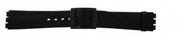 Correa de reloj Swatch SC15.01 Cuero Negro 16mm