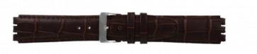 Correa para relojes Swatch de cuero genuino color marrón oscuro 17mm 21414