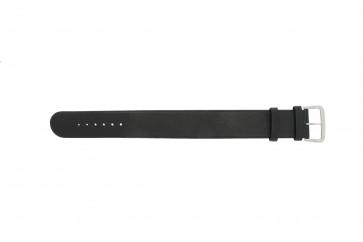 Correa de reloj Danish Design IV13Q676 / IV12Q676 Cuero Negro 24mm
