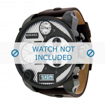 Correa de reloj Diesel DZ7126 Cuero Marrón oscuro 29mm