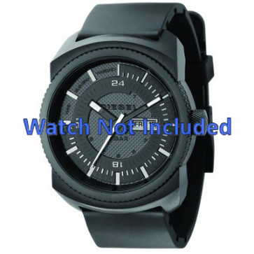 Diesel correa de reloj DZ1262 Caucho Negro 26mm