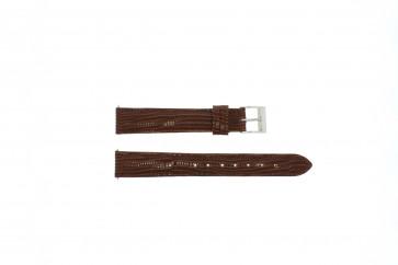 Correa de reloj de cuero genuino tipo cocodrilo marrón 16mm EX-G62