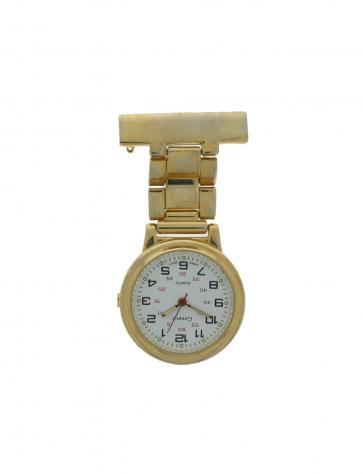 Reloj de enfermera para unisexo  E968 Acero Dorado