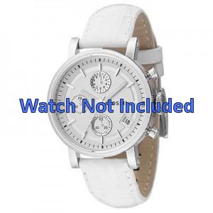 Correa de reloj Fossil ES2202 Cuero Blanco 18mm