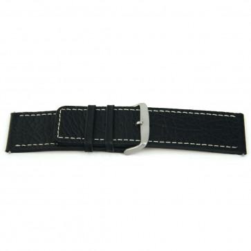 Correa de reloj Universal J125 Cuero Negro 26mm